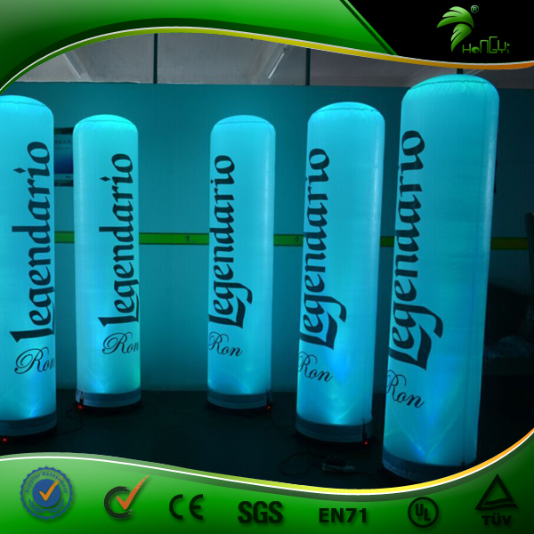 Colorful LED Light Inflatable Tube , LED Inflatable Advertising Pillar With Light