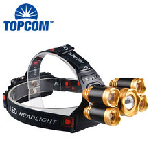 Waterproof 5 Bulbs XML-T6 LED 10000 Lumen Led Headlight 4 Modes 18650 Rechargeable Headlamp