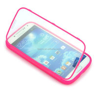 Full Touch Screen TPU Gel Flip Case for Samsung Galaxy S4