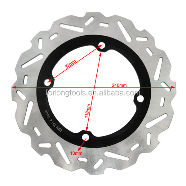 FOR HONDA RACING BIKE 240MM REAR BRAKE DISC ROTOR CB F 500 CB X 500 CBR R 500