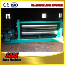 two-roller expanded mesh flattener machine