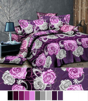 125gsm stitching two sides like quilt cover 100% polyester 3d fabric/ bedsheet with brushed very soft for bedsheet