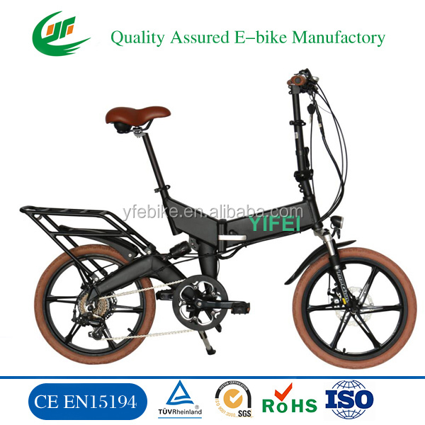 Fashion lady green power motorized moped folding cheap e bike electric bicycle electric bike (TDN11Z)
