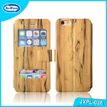 The Newest hot selling wood pattern leather flip case for lenovo a390 wallet case cover for lenovo a816
