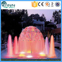 LED Lights Crystal Sphere Jets Design Dandelion Shape Spray Outdoor Water Fountain