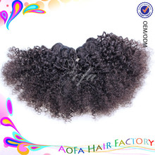 Natural color light/dark brown, natural black human hair bulk cambodian virgin curly weave extensions human hair
