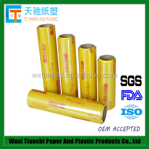 FDA approved stretch cling film pvc wrap film food packaging