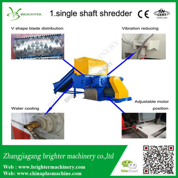 single shaft abs shredder