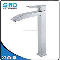 Popular high quality polished metered tall faucets