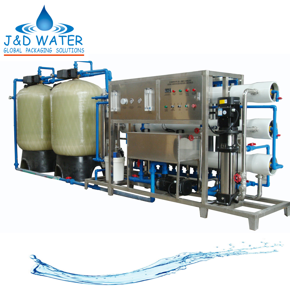 Automatic high efficiency active carbon water treatment equipment with RO system