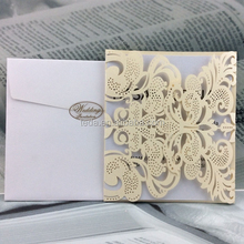 Ivory paper wedding cards wedding invitations for guests