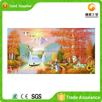 2015 attractive design popular gift arts & crafts diy cross stitch natural landscape diamond painting