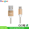 Guoguo wholesale phone charger colorful round micro usb data cable for android phones