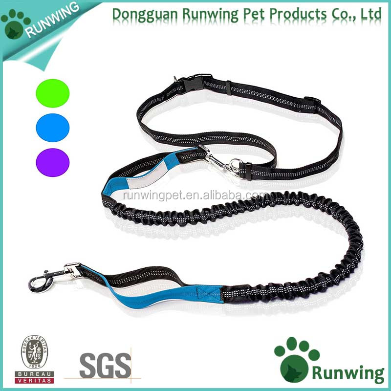 outdoor running dog leash, hands free nylon training leash, pet accessories