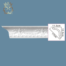 China polyurethane foam coving cornice panel crown moulding for sale