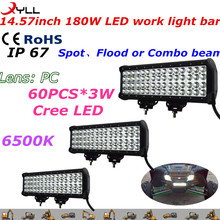 cheap price ! DC 9-32V 180W led working light bar for truck ,combo or spot ,flood beam work light semi truck led light bar