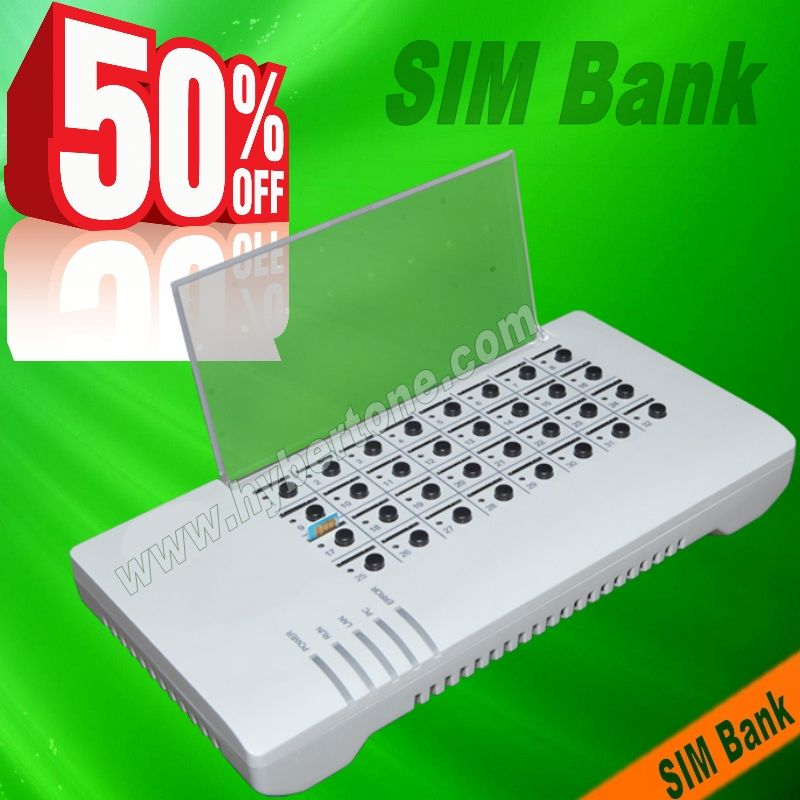 50% off discount SIM Bank SIM Sever mobile phone gateway