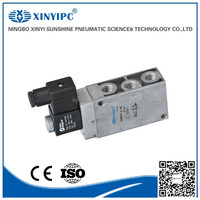 Festo type 5 way 2 position single solenoid poppet piloted control solenoid valve