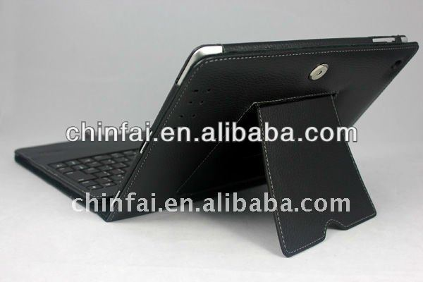 For New iPad 3rd 4th 5th 2nd Stand Leather Case Cover With Comfortable Touch Bluetooth Keyboard
