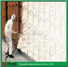 spray foam insulation open and closed cell white loose fiberglass wool