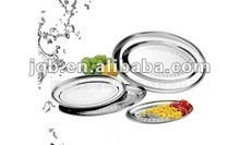 Stainless steel Egg Shaped Mess Tray/round dish