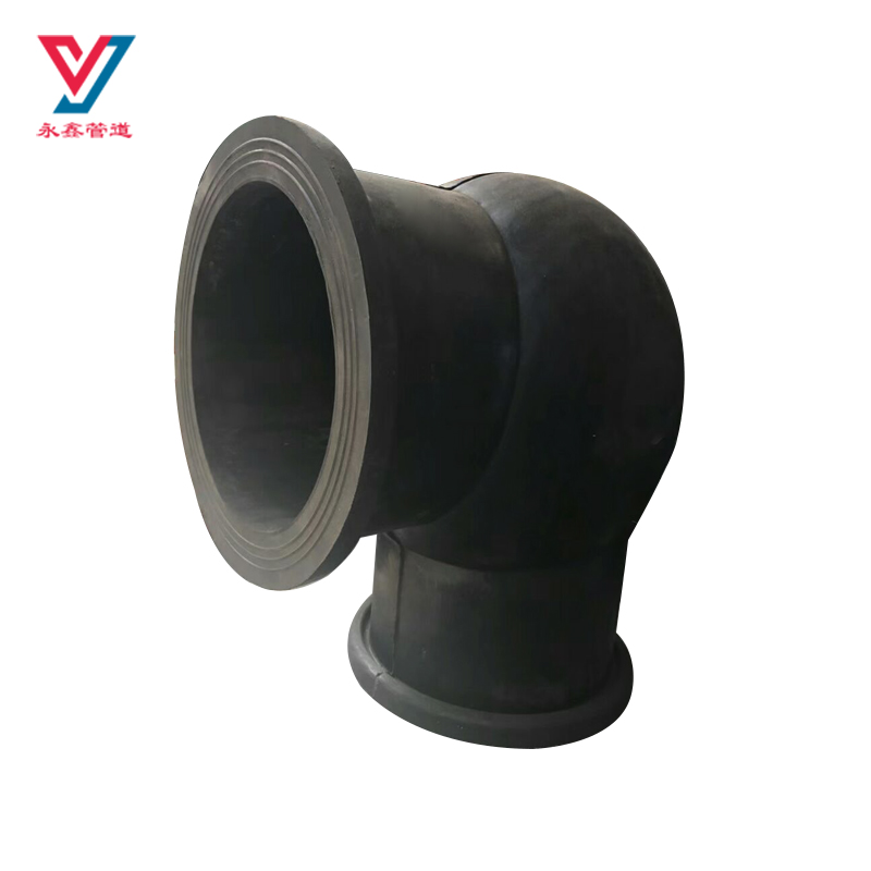 Factory supplies 90 degree bend expansion flexible rubber elbow