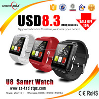 Competitive price accept paypal bluetooth u8 smart watch for android phone