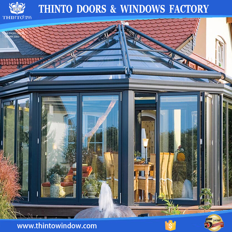 New design popular high quality aluminum lowes glass sunroom for sale