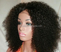 7A Glueless Full Lace Human Hair Wigs Kinky Curly Virgin Hair Lace Front wigs