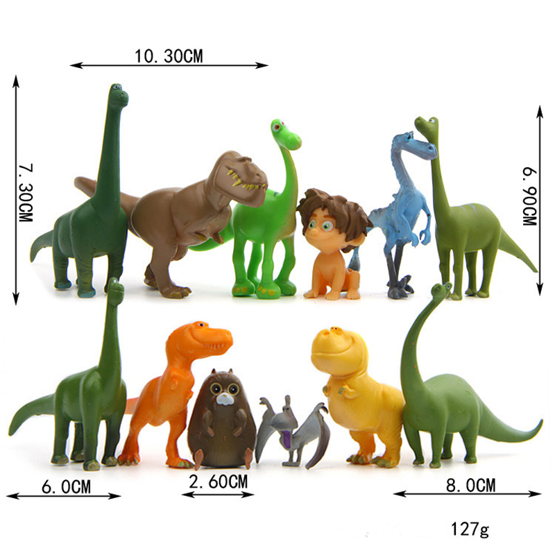 12pcs/set The Good Dinosaur PVC Action Figure Cartoon Dinosaur mini <strong>model</strong> for kid