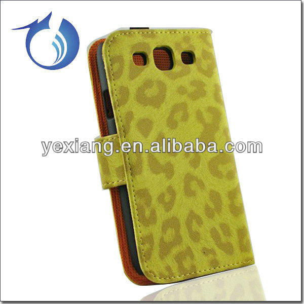 Fashionable glamour leopard print leather case for samsung galaxy s3 i9300