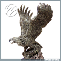 Large Outdoor Vintage Eagle Stone Statue