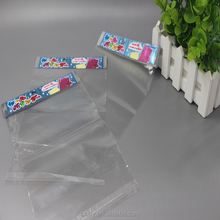 Clear Self Sealing OPP Plastic Packing Bag With Header For Notebook /book
