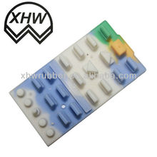 molding silicone rubber remote control keypad/rubber keypad