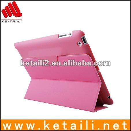 smartcover for mini ipad with PC and leather material