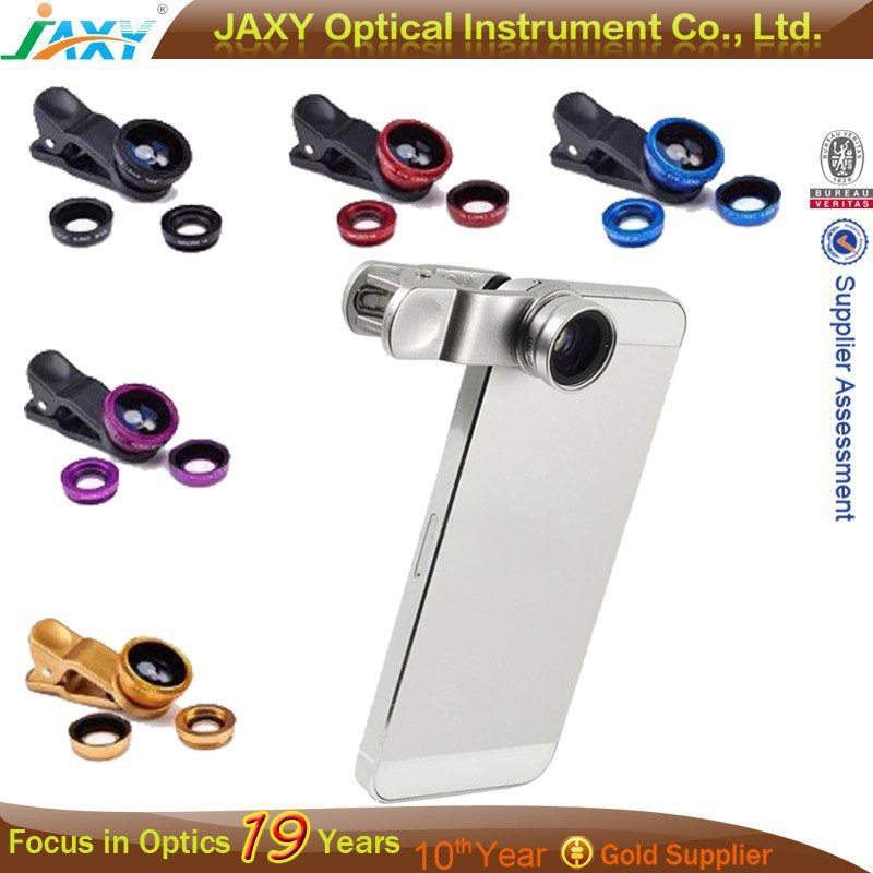 Universal Kits 3 In 1 Clip-on Fish Eye Macro Wide Angle Mobile Phone Camera Lens