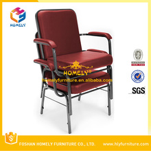 Hot Selling Hotel Furniture Design Used Cheap Armrest Church Chair