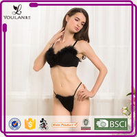 Christmas High Quality New Design Unwired stylish bra and panty set panty women pictures