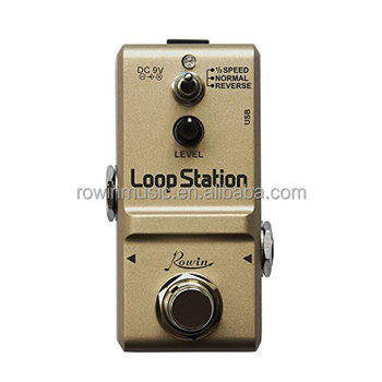 Rowin Loop Station Looper Effects Pedal Unlimited Overdubs 10 Minutes of Looping, 1/2 Speed and Reverse Function