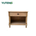 Bedroom furniture fasmous design small wood bedside table with single drawer