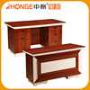 Latest Double Color Decorated Wooden Office Computer Table Design