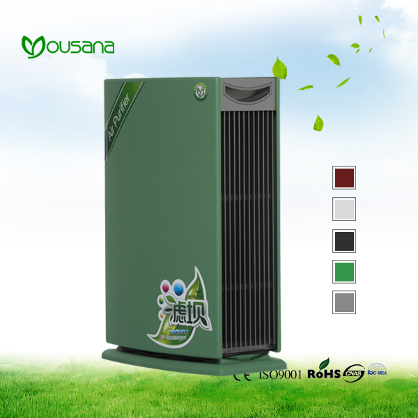 Negative ion electrostatic purification air filter purifier with double sensor for family