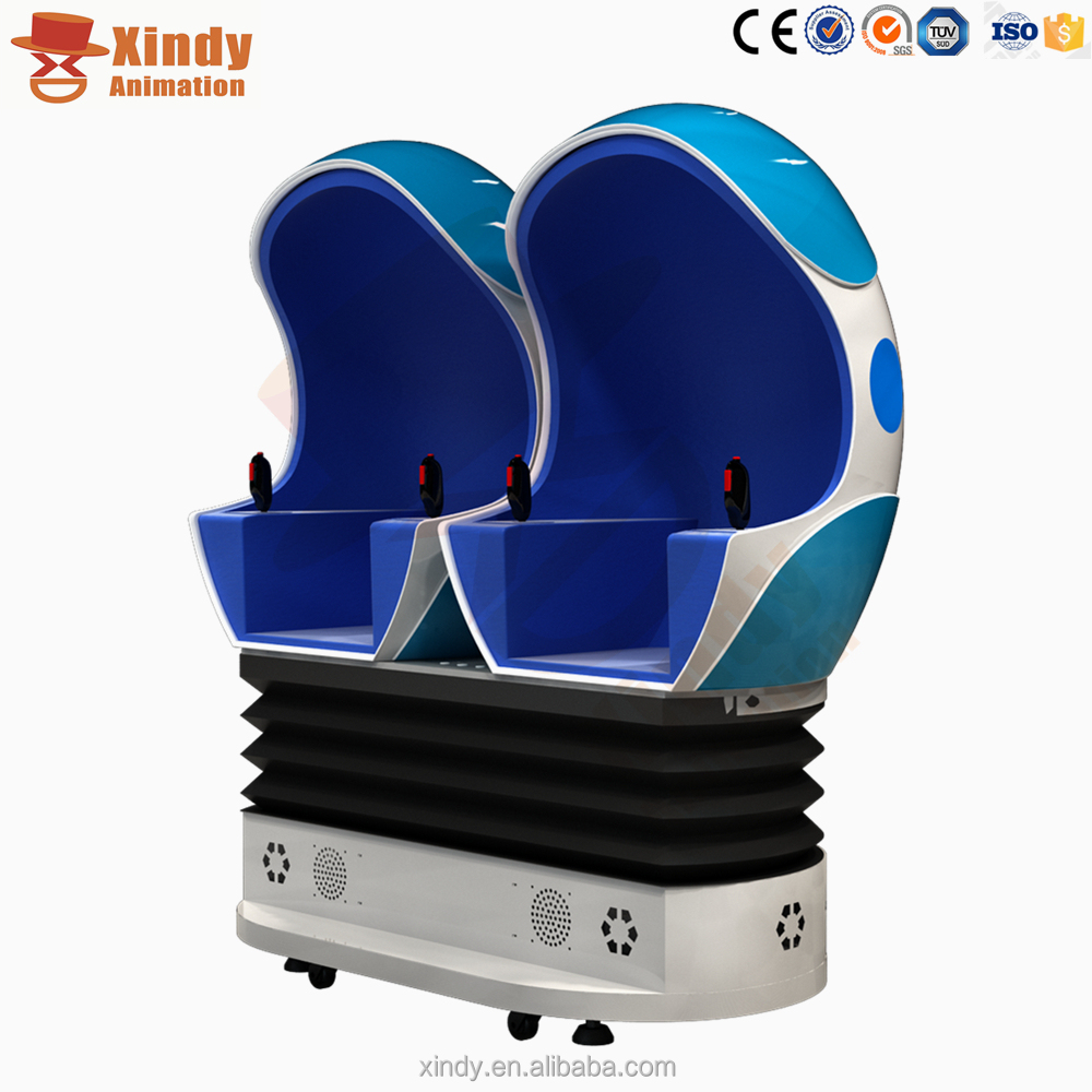 Amusement park ride manufacturer egg vibrator 3 DOF platform 9d cine box 360 degree cinema 9d vr
