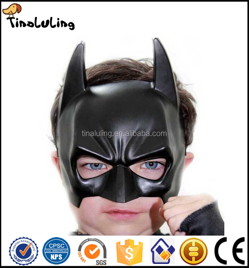 Custom Plastic Cheap Half Face Batman Mask for Kids