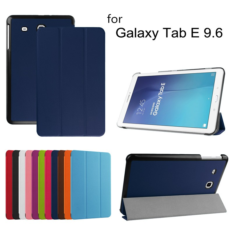 Three Folding magnetic leather smart case for samsung tab e t560, tablet cover for samsung tab e t560 case