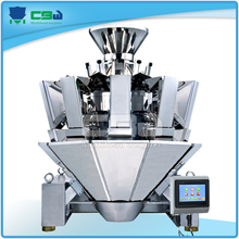 Screw feeding multihead combination weigher for chicken wings,chicken legs,fish,raw beef,lobster,shrimp,poultry