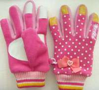 Hot Sale fashionable gril polar fleece gloves