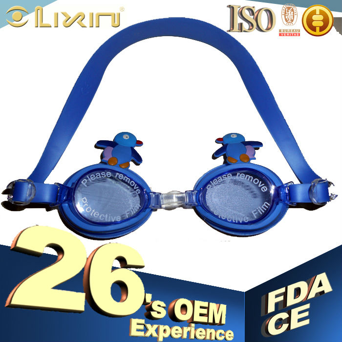 2014 cute swimming goggles with diopter