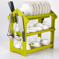 Kitchen Dish Drainer Rack with Tray for Drying Glasses, Silverware, Bowls, Plates