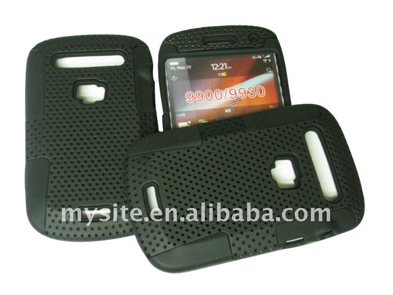 Hottest Custom Silicon+PC Cell Phone Combo Case Covers for BlackBerry Curve 9900/9930